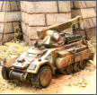 Dragoon Half Track with hoist/crane, winch drum and dozer blade
